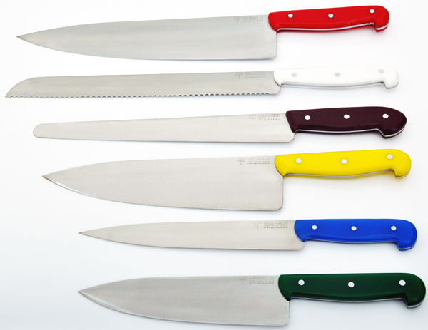Color Coded Kitchen Knives